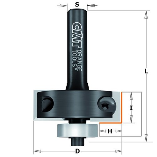 CMT Rabbeting Bit with Insert Knives