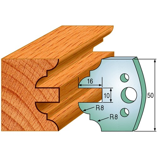 CMT Spindle Moulder Profile Knives - 50mm - Joinery