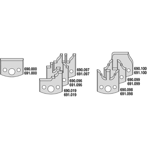 CMT 7 Piece 40mm Multiprofile Cutter Head Set with Limiters (Door Profiles) - 30mm Bore