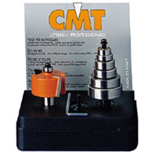 "CMT 12.7 Rabbeting Bit w/ 6 Bearings rad 1/4""S"