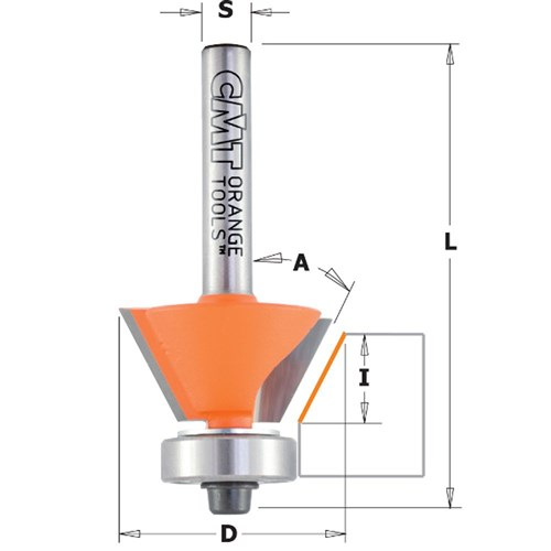 CMT Combination Trimmer Router Bit - 30°