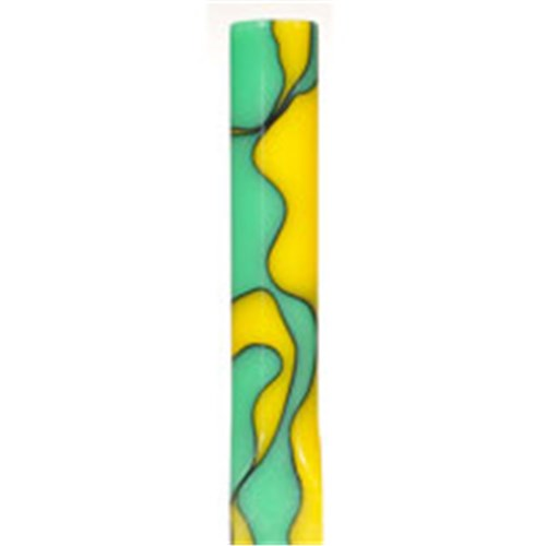 Acrylic Pen Blank - Green / Yellow Marble