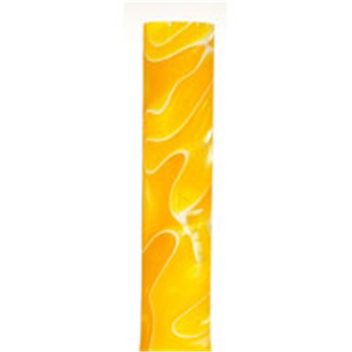 Large Acrylic Pen Blank - Yellow / White Marble