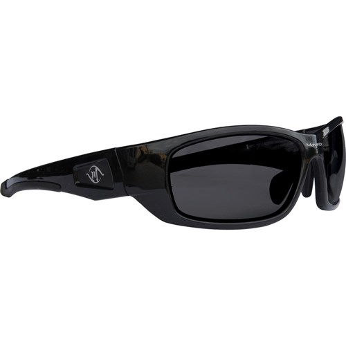 Maverick Safety Glasses - Black Frame Anti-reflective Smoke Lens