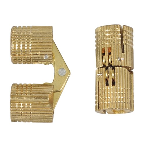 Brass Concealed Hinges - 12mm - Pair