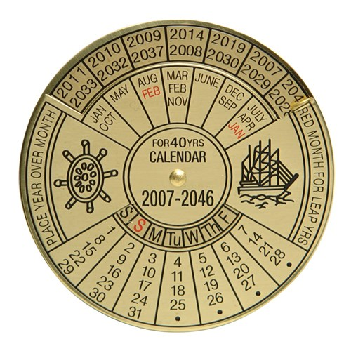 40 Year Brass Calendar