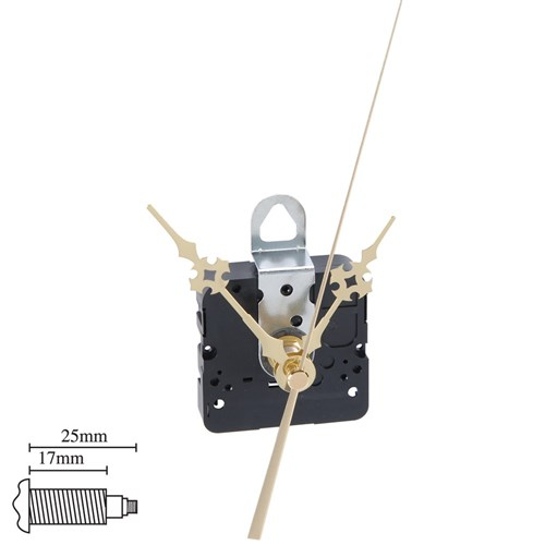 Clock Movement - 17mm Shaft