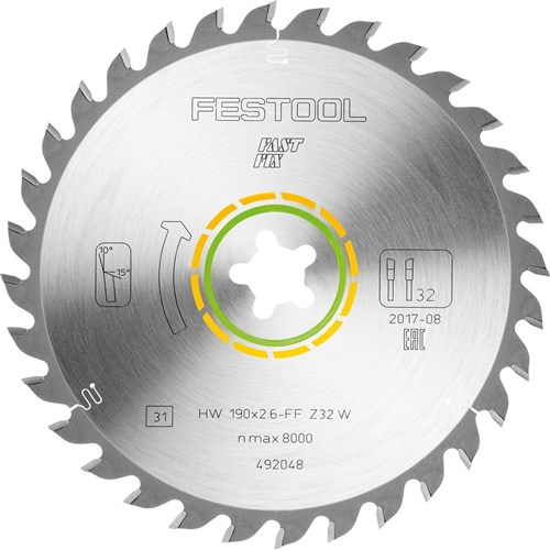 Festool Saw Blade - 190mm Fastfix 32 tooth