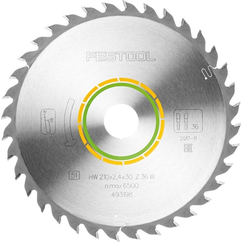Festool Saw Blade - 210mm 36 tooth