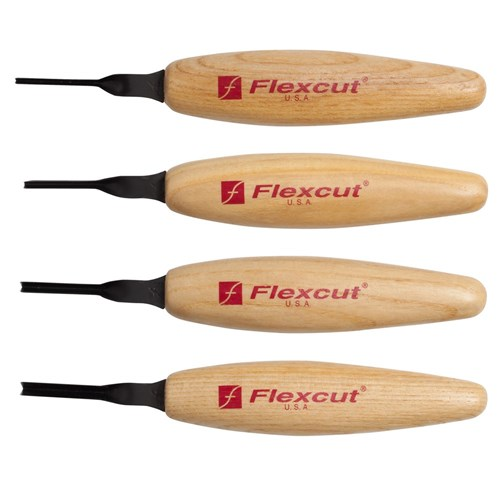 Flexcut 45Deg. Parting Micro Tool Set