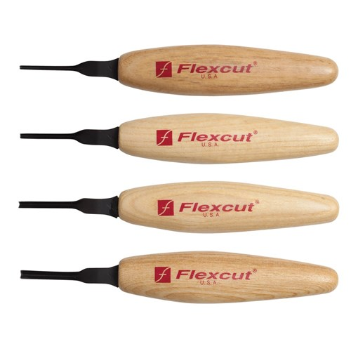 Flexcut 60Deg. Parting Micro Tool Set