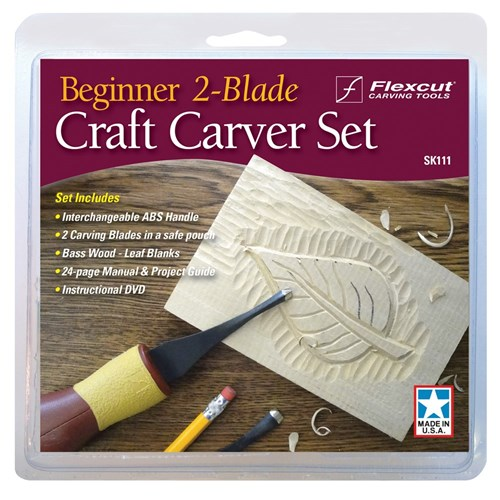 Flexcut Beginner 2 Blade Carver Kit