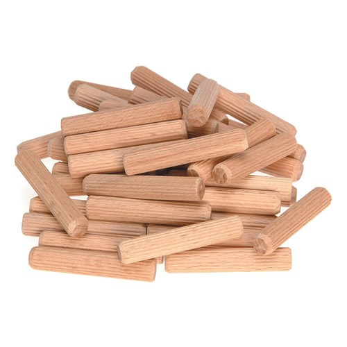 Haron 9.5mm x 50mm Fluted Dowels 100 Pk