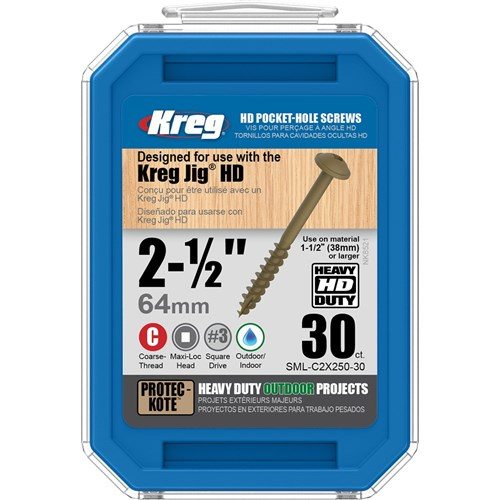 Kreg Pocket Screws HD 2-1/2
