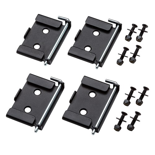 rockler quick release workbench caster plates 4 pac k mobile bases carbatec. Black Bedroom Furniture Sets. Home Design Ideas