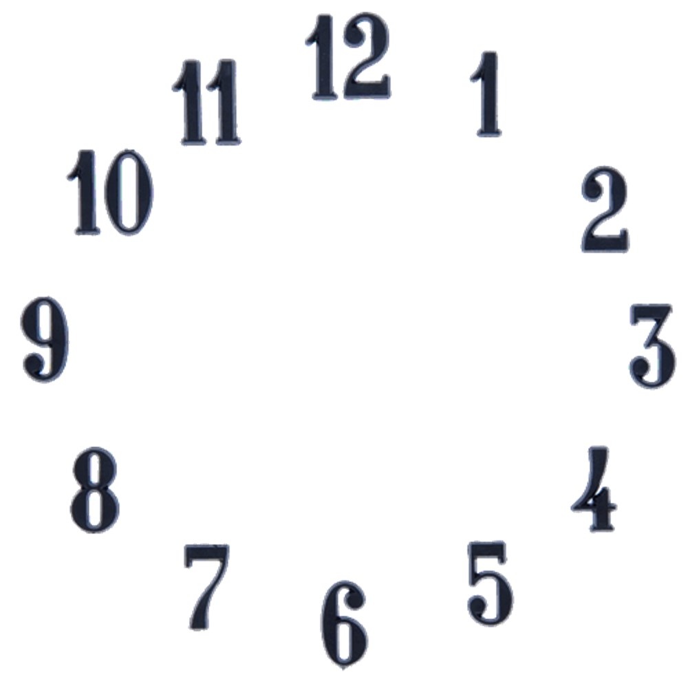 Clock Number Set Arabic Black 3 8 Quot Clock Numbers
