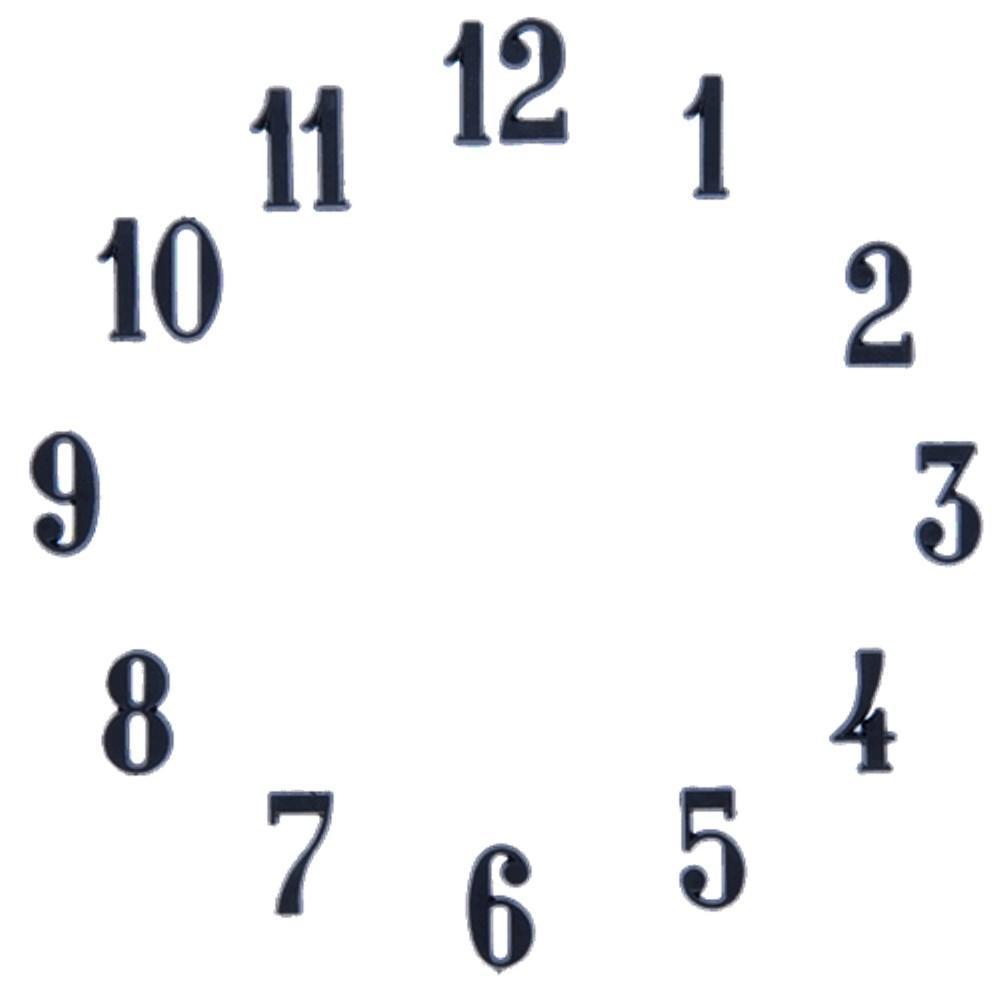 Clock Number Set Arabic Black 1 Quot Clock Numbers