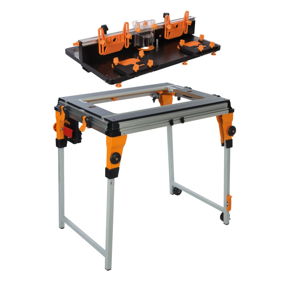 Triton router table and workcentre stand workcentres for Router work table
